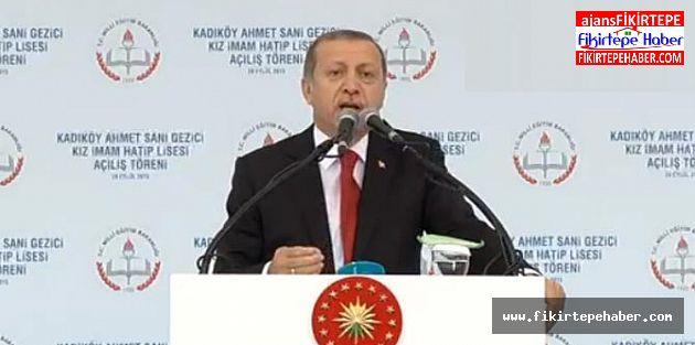Cumhurbaşkanı Tayyip Erdoğan, Kadıköy'de okul açılışına katıldı.
