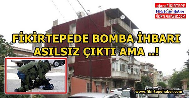Fikirtepe'de bomba alarmı boş çıktı ama ..!