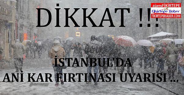 İstanbul'da son yılların şiddetli kar yağışı bekleniyor