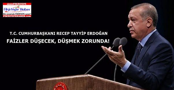 Cumhurbaşkanı Erdoğan, Külliye'de bankalarla faizlere fren zirvesi yaptı