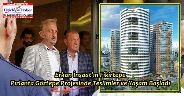 Erkan İnşaat'ın Fikirtepe'de Pırlanta Göztepe Projesinde Yaşam Başladı