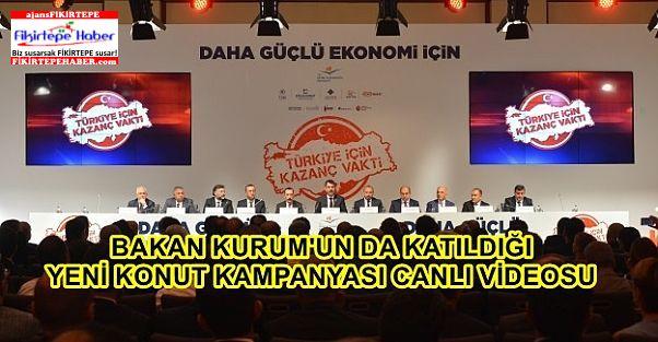 Bakan Kurum'un Yeni Konut Kampanyasını Açıklaması Canlı Video..