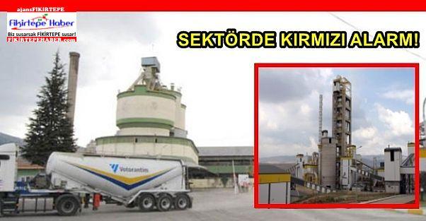 Yabancı Ortaklı Çimento fabrikasında üretime STOP