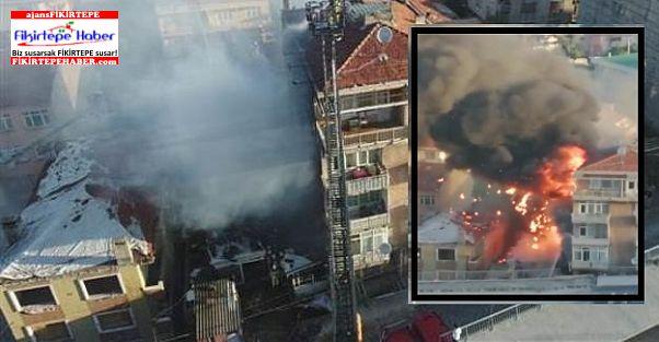SON DAKİKA - Fikirtepe'de ihmalle gelen Yangın !!