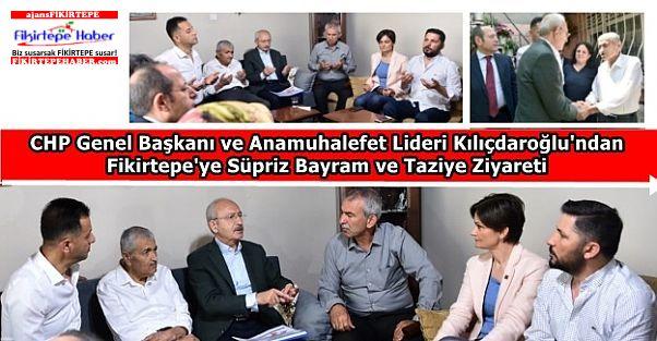 Anamuhalefet Lideri Kılıçdaroğlu'ndan Fikirtepe'ye süpriz bayram ziyareti