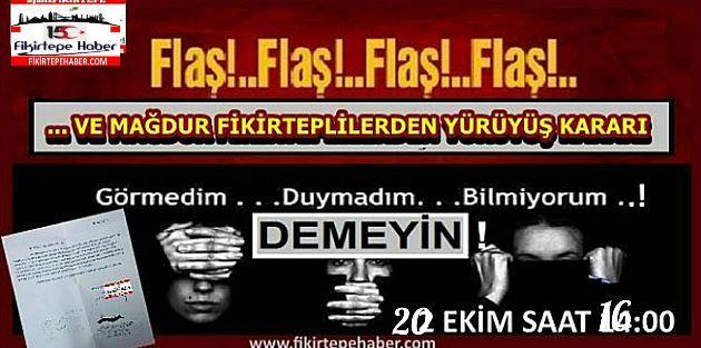 Fikirtepe'den Barış Pınarı Harekatı'na ve Askerimize destek yürüyüşü