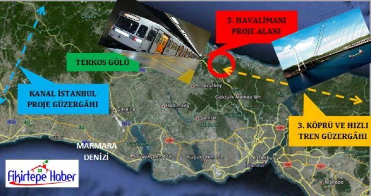 3. Havalimanına Metro ve 3. köprüden hızlı tren destekli ulaşım