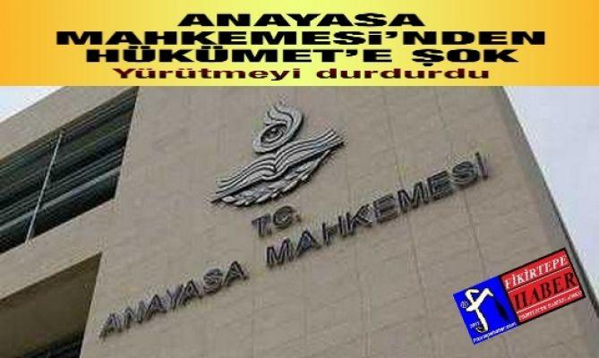 ANAYASA MAHKEMESİNDEN DEMOKRATİK BİR KARAR VE İPTAL !