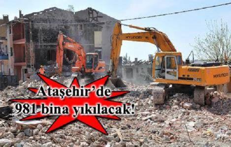 Ataşehir' de ihale usülü dönüşüm, 981 binanın yıkımı için düğmeye basıldı!