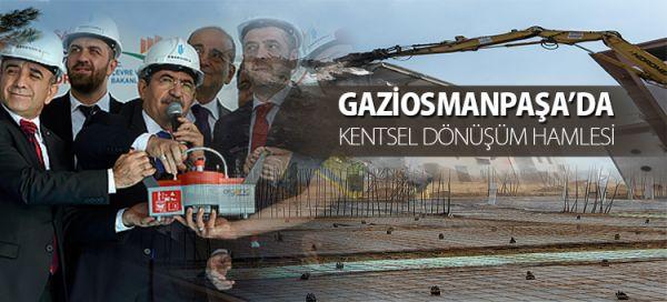 BAKAN GÜLLÜCE GAZİOSMANPAŞA'DA TEMEL ATMA TÖRENİNE KATILDI