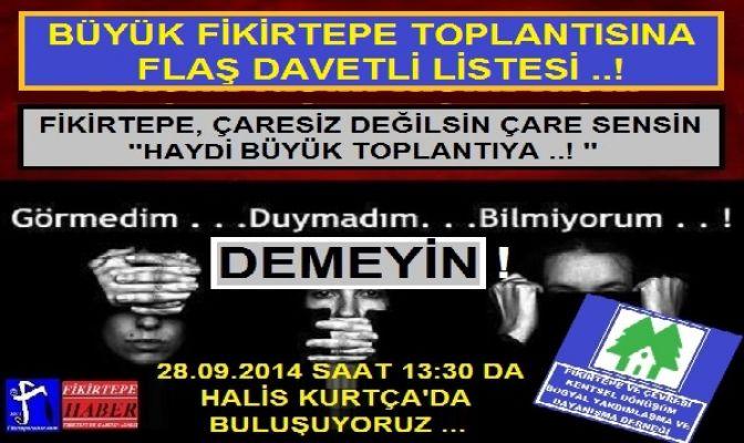 BÜYÜK FİKİRTEPE TOPLANTISI DAVETLİ LİSTESİ ...