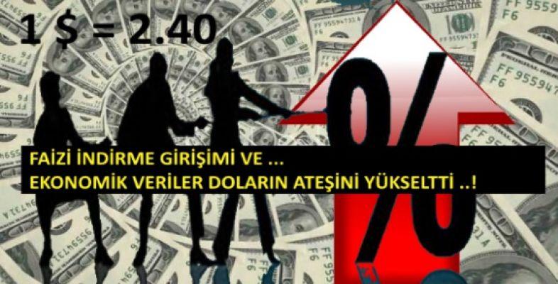 Dolar Ateşlendi ! '' 2,40'ı aştı ''