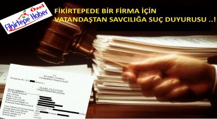 Fikirtepeli vatandaşlardan iş yapmayan firma hakkında savcılığa ilk suç duyurusu !