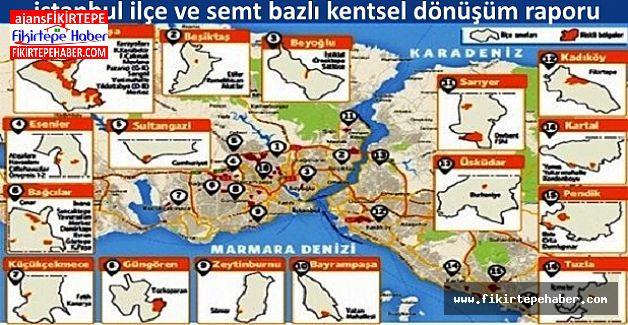 İstanbul ilçeleri kentsel dönüşüm raporu
