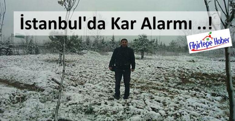 İstanbul'da kar alarmı ..!