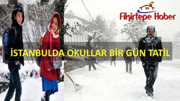 İstanbul'da Okullar Beklenen kar ile geldi ''Bir gün tatil''