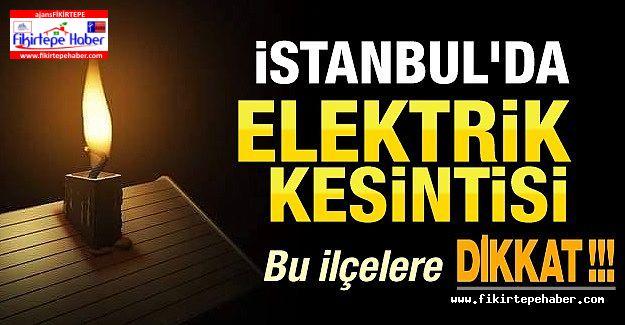 Kadıköy başta olmak üzere İstanbul'un 18 ilçesinde büyük elektrik kesintisi
