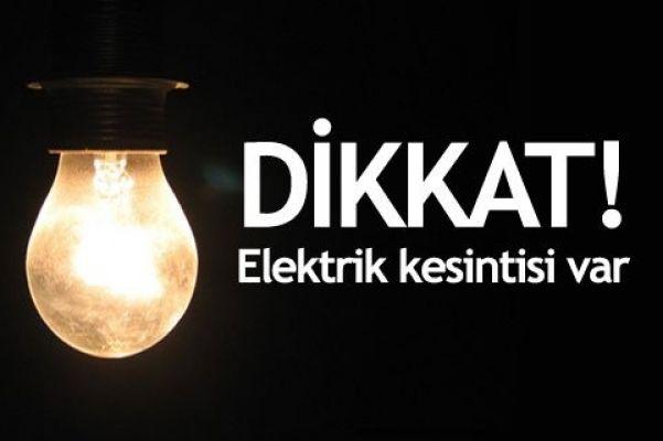 Kadıköy'de bazı mahalle ve sokaklarda elektrik kesintisi
