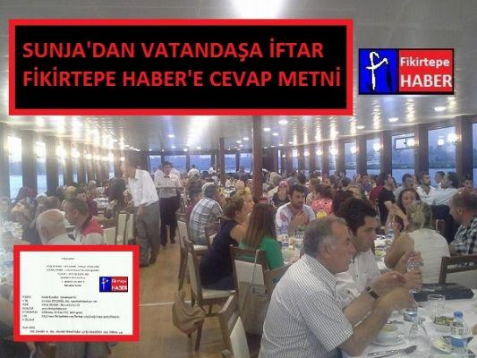 SUNJA'DAN FİKİRTEPE HABER'E CEVAP GELDİ ..!