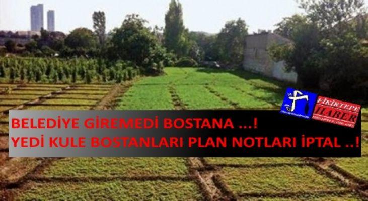 Tarihi Yedikule Bostanları İmar Planı Reddedildi!