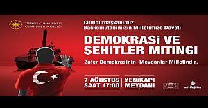 Yüzbinler Demokrasi ve Şehitlere Saygı İçin Bugün Yenikapıda