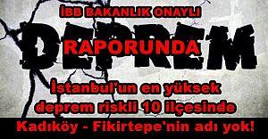 İBB'nin Bakanlık onaylı en riskliler raporu ''Kadıköy-Fikirtepe'nin adı yok!''