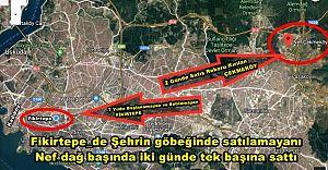 Fikirtepe'de Şehrin göbeğinde satılamayanı, Nef dağın başında iki günde tek başına sattı