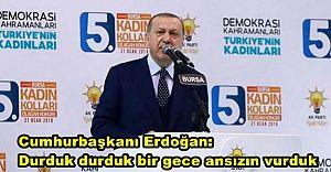 Cumhurbaşkanı Erdoğan: Durduk durduk bir gece ansızın vurduk