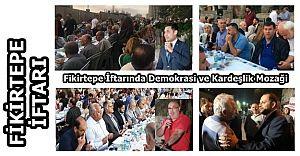 Yoğun İlgi gören Fikirtepe İftarında, Demokrasi ve Kardeşlik Mozaği