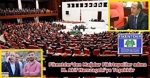 Fikentder'den M. Akif Hamzaçebi'ye Mağdur Fikirtepeliler adına Teşekkür