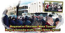 Fikirtepe Başaran adasında, şimdilik mutlu sonla biten ''Protesto eylemi!''