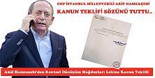 Akif Hamzaçebi'den Kentsel Dönüşüm Mağdurları Lehine Kanun Teklifi
