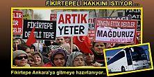 Fikirtepe toplu halde Ankara'ya gitmeye hazırlanıyor..