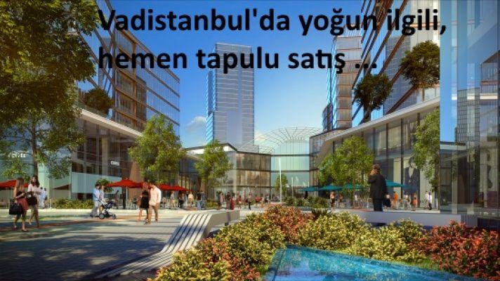 Vadistanbul'da yoğun ilgili, hemen tapulu satış