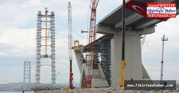 Körfez geçiş köprü yapımı emin adımlarla ilerliyor ...
