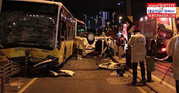 Fikirtepe Metrobüs yolunda kaza '' 5 ölü, 5 yaralı''