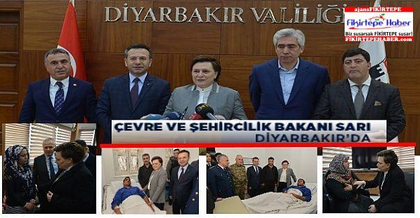 Devletin şevkat eli Çevre ve Şehircilik Bakanı Sarı'yla Diyarbakır'da