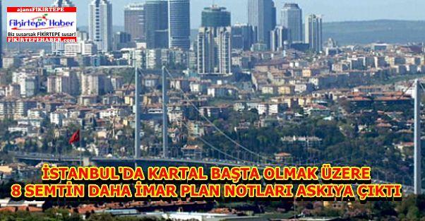 İstanbul Büyükşehir Belediyesi 8 Semtin daha imar planlarını askıya çıkarttı