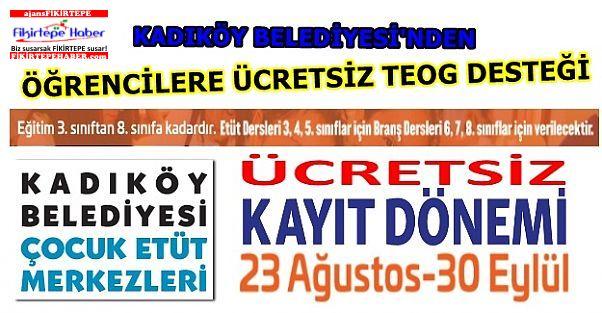 Kadıköy Belediyesi'nden Öğrencilere Ücretsiz Teog Desteği