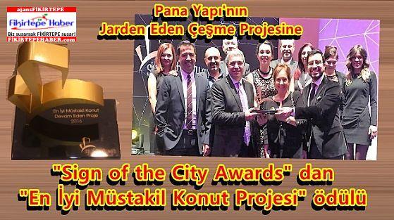 Pana Yapı'nın Jarden Eden Çeşme Projesine 'Sign of the City Awards' Birincilik ödülü