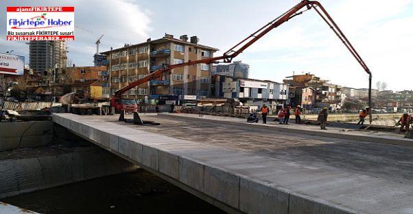 Mandıra Caddesindeki köprü bitmek üzere , işte son durum