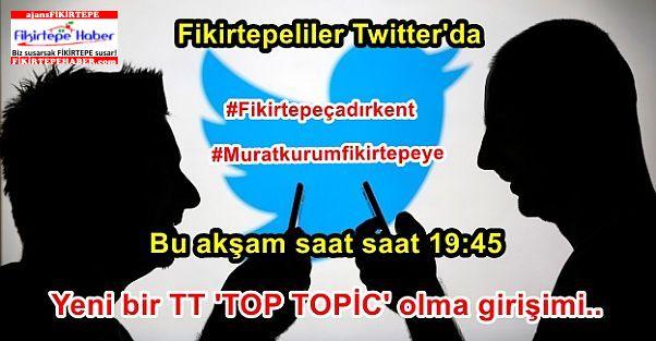 Fikirtepeliler bugün Twitterda TT  olarak Bakan Kurum'u davete hazırlanıyor