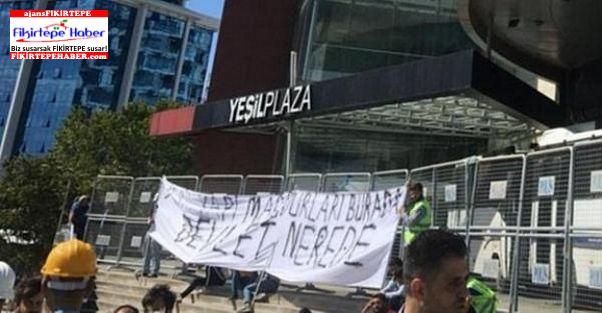 Konkordato ilan eden Yeşil İnşaat işçileri maaşları için eylemde
