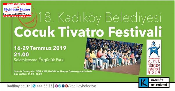 Kadıköy'de Çocuk Tiyatro Festivali Perdelerini Açıyor