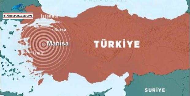 Son Dakika .. Manisa'da 5.1 şiddetinde deprem!