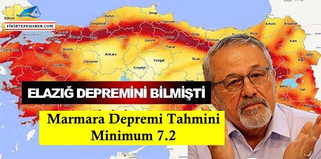 Prof. Naci Görür beklenen Marmara depremi tahmini ''Minimum 7.2''