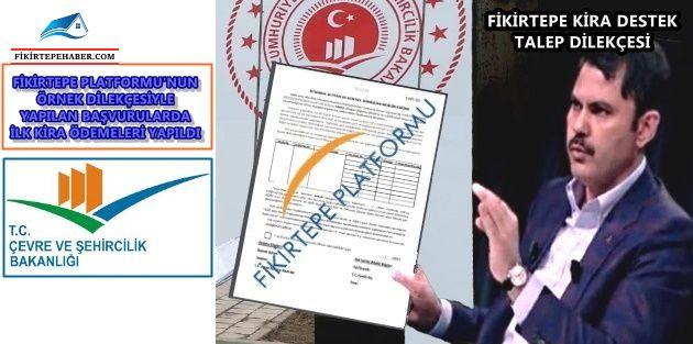 FİKİRTEPE PLATFORMU'nun Önerdiği Dilekçeler Vatandaşı Rahatlattı!!!