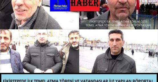 Fikirtepede ilk temel atma töreninde vatandaş röportajları - Fikirtepe Haber özel video