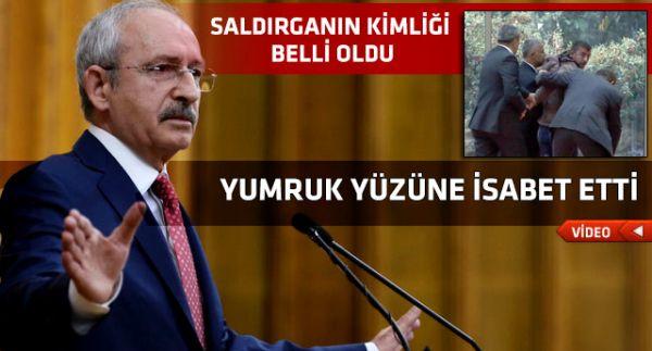 Kemal Kılıçdaroğlu'na yumruklu saldırı yapıldı