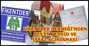 Fikentder'den res'en tevhid ve ifraz açıklaması